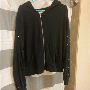 Wild fox black zip up hoodie!